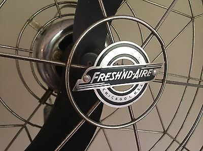 Fresh'nd Aire Industrial Model 23 Pedestal Fan 3 Speeds~Works Great~Steampunk