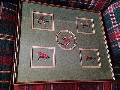 Vintage Framed 'Dressing a Salmon Fly' by the famed UK fly tyer, Mike Sugg