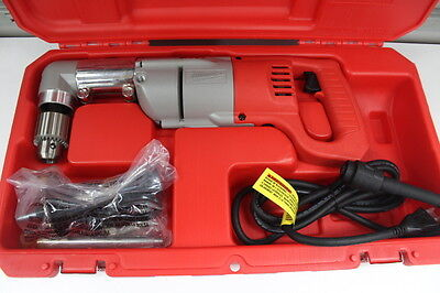 """Milwaukee 1107-1 Heavy Duty 1/2"""" Right Angle Drill with Case and Accessories"""