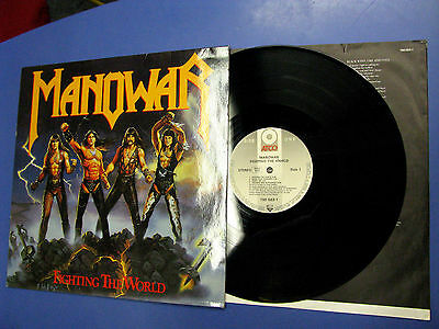 Lp Manowar ‎Fighting The World ATCO Records ‎1987 Europe 790 563-1