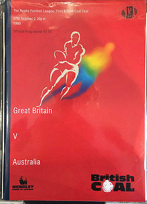 27th October 1990 Great Britain vs Australia Rugby League British Coal Programme
