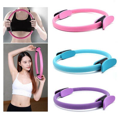 New Dual Grip Pilates Ring Magic Circle Body Sport Fitness Training Yoga Tool