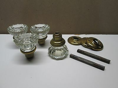 Glass Door Knobs (4) with some hardware