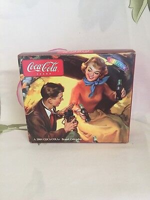2004 Coca-Cola Year In A Box Calendar, Collectable, Never Used,color Printing