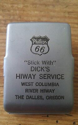 Vintage Advertising Phillips 66 Gas Oil magnetic clip. The Dalles Oregon