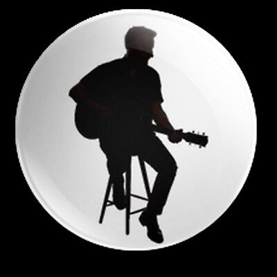 Billy Bragg Silhouette 25Mm Badge Billy Bragg Bard Of Barking A New England