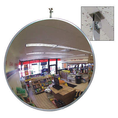 """18"""" Acrylic Indoor Convex Mirror With T-Bar Clip For Dropped Ceiling Viewing 18'"""