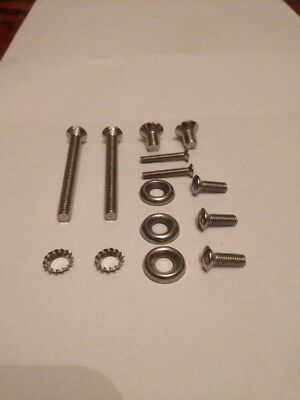 Lambretta Series 2 Stainless Headset Top And Rim Screw Kit