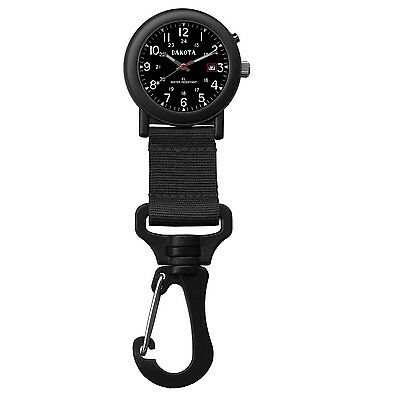 Dakota Light Backpacker Clip Watch w/Dial Light - Black 28767