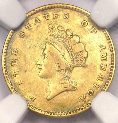 1854 Type 2 Indian Gold Dollar (G$1 Coin) - NGC XF Details (EF) - Rare Type!