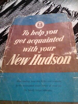 Vintage Hudson Owners Manual-Used Condition