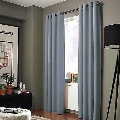 """2 ADAM Greek Insulated Thermal 100/% Blackout Window Curtain Panels 95/"""" Length"""