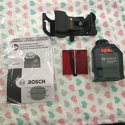 New Bosch Gll 2-20 360 Degree Line And Cross Laser