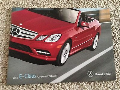 2012 Mercedes Benz E-Class Coupe and Cabriolet Sales Brochure