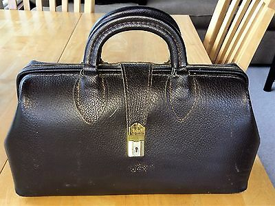 Vintage Schell Brown Leather Doctor's House Call Bag 5681-71424