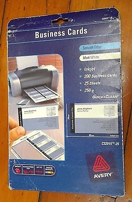 Avery White Quick & Clean™ Double Sided Inkjet Business Card Matt 250gsm (#40)