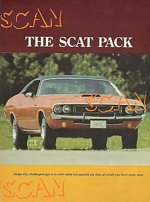 1970 Motor Trend Magazine Article Dodge Scat Pack Challenger Charger Superbee Ad