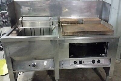 Commercial Ausheat  Fryer With Separate Griller-Electric