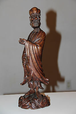 Very Beautiful and Old Chinese Wooden Hand Carved Buddha Statue.