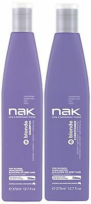 Nak Blonde Shampoo 375 Ml And Blonde Conditioner 375 Ml Free Shipping