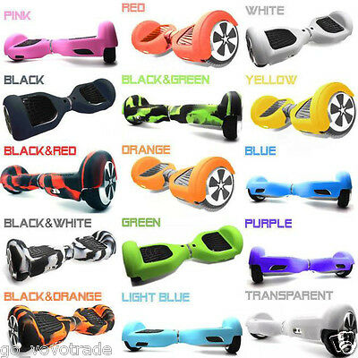 """Silicone Case Cover for 6.5"""" 2 Wheels Smart Self Balancing Scooter Hover Board"""