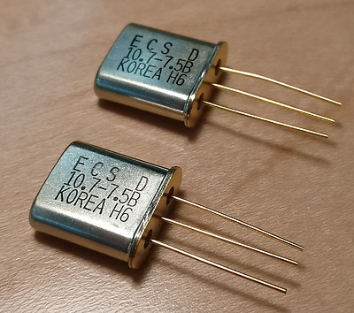 10.7MHz Crystal Filters 7.5kHz BW (QTY 2 matched pairs)