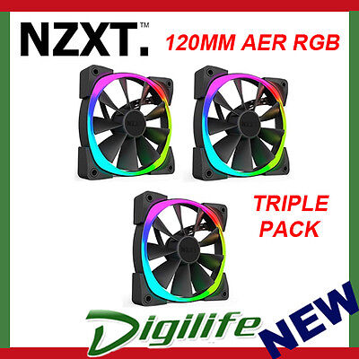 Nzxt 120Mm Aer Rgb Fan Triple Pack