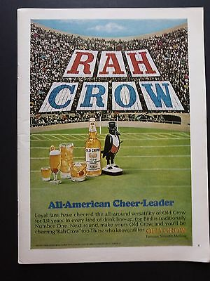 Old Crow | 1966 Vintage Ad | 1960s Bourbon Whiskey