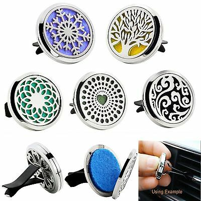 New Stainless Car Air Vent Freshener Essential Oil Diffuser Locket Aromatherapy