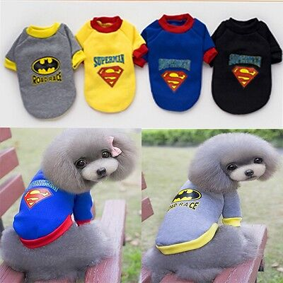 Animal chien costume coton  vest manteau superman