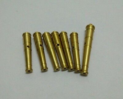 CNC Brass Cannons upgraded accessories suit for 1/100 HALCON ship model 7pcs/lot