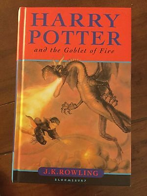 Harry Potter And The Goblet Of Fire 1St Edition Book With All 59 Errors Hardback