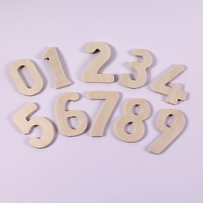 Wooden Zero to Nine Number Stencils Large Wooden Number Templates Pack of 10