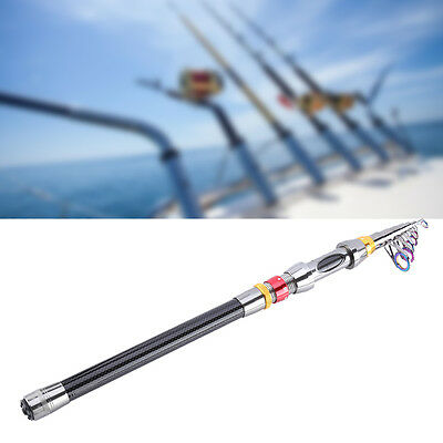 5 Sizes Portable Carbon Fiber Ultralight Travel Telescopic Fishing Rod Pole OB