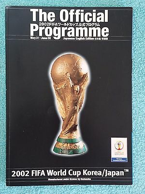 2002 - Official World Cup Tournament Programme - Japanese / English Edition