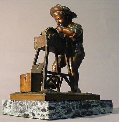 Antique Bronze Statue of a Knife Grinder by Charles Menn 1880