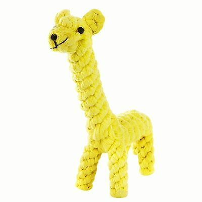 Dog Chew Toy Braided Rope Giraffe Pet Indestructible Teeth Dental Cleaning Toys