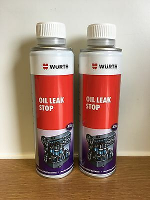 2 X WURTH ENGINE OIL LEAK STOP SEAL SEALER 200mL FOR PETROL AND DIESEL ENGINES