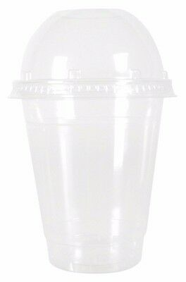 12oz SMOOTHIE CUPS MILKSHAKE CUPS CLEAR DOME CUPS DART SOLO CUPS TP12 DISPOSABLE