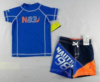 Nautica Baby Set, Baby Boys 2-Piece Rash Guard & Board Shorts - 18 months
