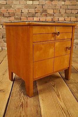 Années 50 Rockabilly TABLE DE CHEVET TORSE CABINET MINI BUFFET COMMODE 60s