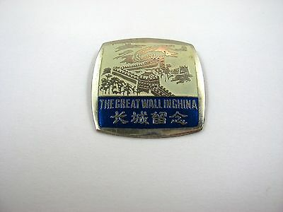 Vintage Collectible Pin: Great Wall in China
