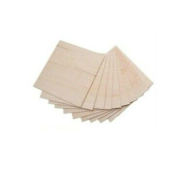 4 or 6 Balsa Wood Sheet 457mm Long x 75mm Wide Select Thickness Pk of 2