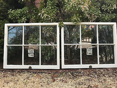 2- 31 x 25 Matching Vintage Window sash old 6 pane frame from 1953