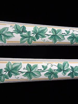 Vintage 1930's IVY Wallpaper Border Trimz Brand Prepasted Add Color to Any room
