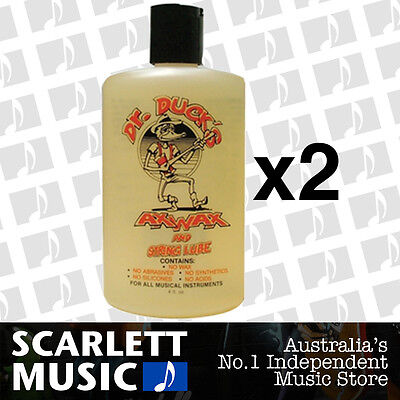 2x Dr. Duck's Ax Wax Guitar Polish String & Fretboard Cleaner *SET OF 2 BOTTLES*