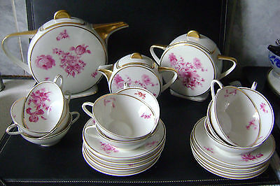 Service A Cafe Art Deco Porcelaine De Limoges