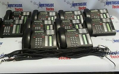 Lot of 10 Norstar Nortel T7316E Display Telephone NT8B27 Charcoal