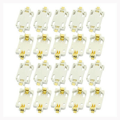 20pcs White Housing CR2032 SMD Cell Button Battery Holder Socket Case