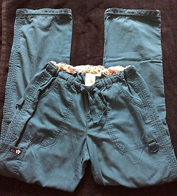 Women's size SMALL - TALL *** Koi scrub TEAL cargo scrub pants
